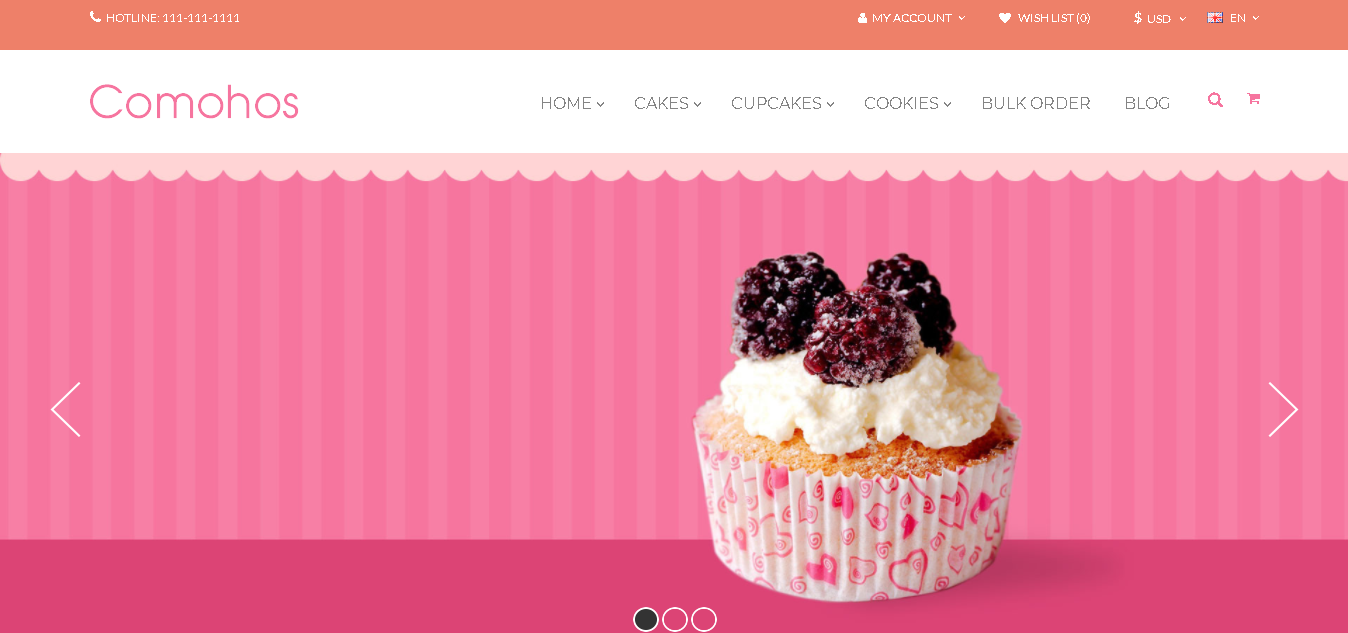 opencart bakery theme comohos
