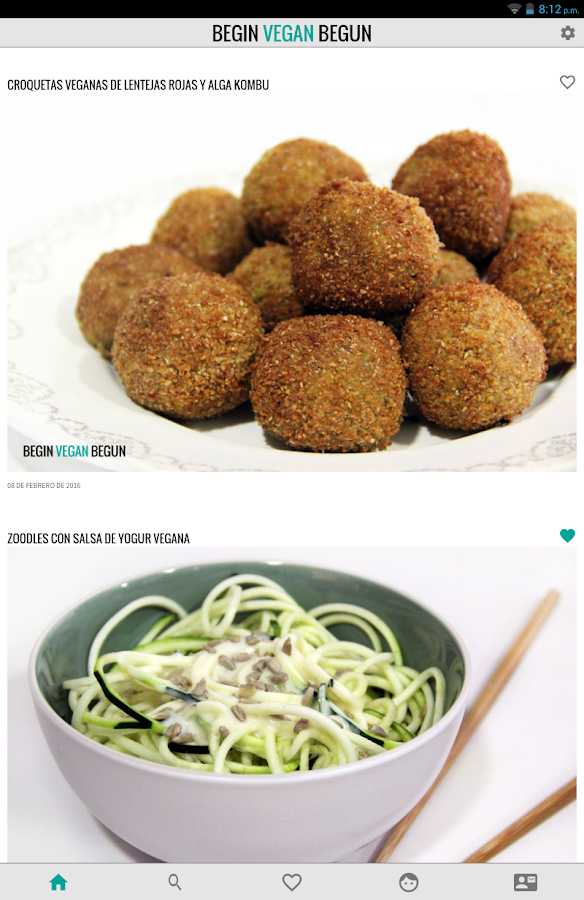 Begin Vegan Begun Recetas- screenshot