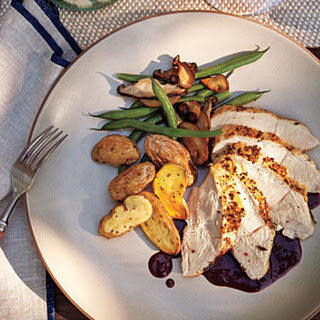 Roasted Breast of Chicken with Pinot Noir Sauce.