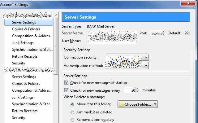 Increase duration of checking messages in Thunderbird