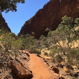 The track to Simpsons Gap by Dawn Simpson - Landscapes Caves & Formations ( simpsons gap, alice springs, tourism, popular destinations, outback )