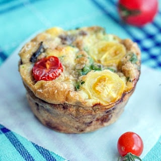 Basil, Sausage and Egg Muffins (Mini Frittatas)