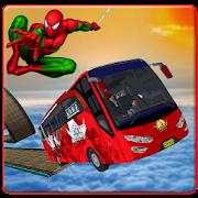 Superheroes bus Stunts Offroad Simulator