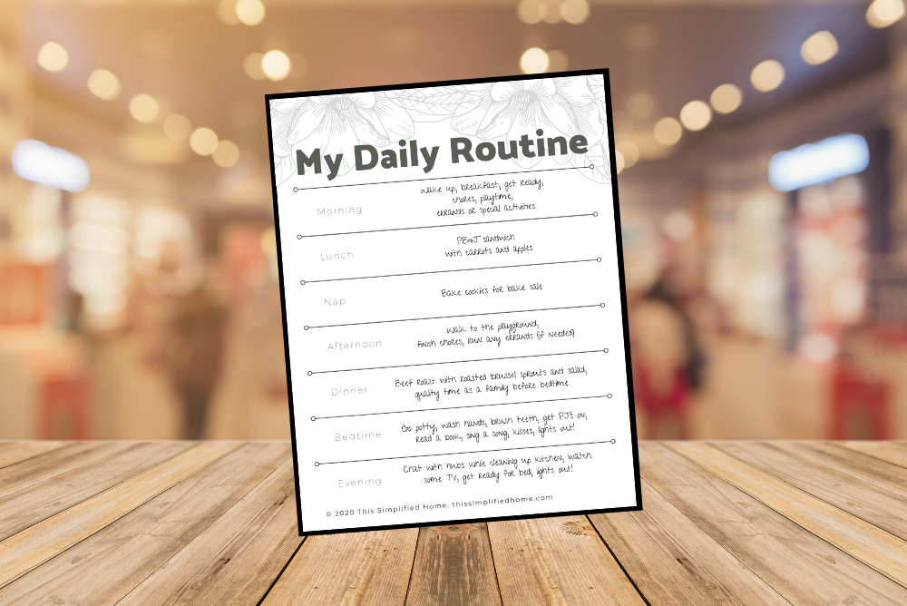 Click here to grab a free daily routine template.