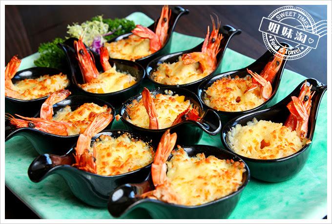 河邊海鮮餐廳-焗烤起司黃金蝦