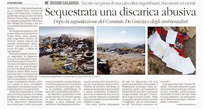 Photo: Il Quotidiano della Calabria 8 gennaio 2014, pag. 19