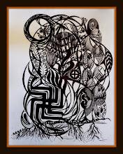 Photo: 030 UNION OF EARTHLY AND HEAVENLY WISDOM ~ ПОЄДНАННЯ ЗЕМНОЇ ТА НЕБЕСНОЇ МУДРОСТІ Luba Bilash original ink $250