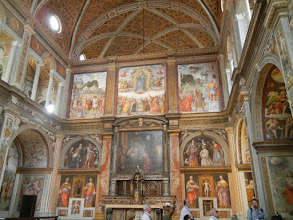 Photo: We headed towards downtown Milan. St. Maurizio's was on the way. It was open and we popped in to have a look. Here's the phenomenal chapel.