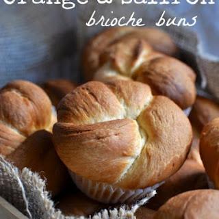 Orange and Saffron Brioche Buns Recipe