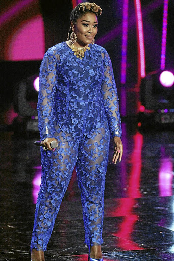 Lady Zamar picked a lace jumpsuit for her return to 'Idols SA'.