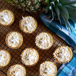 Piña Colada Cheesecake Cupcakes (Low Carb, Gluten-free)