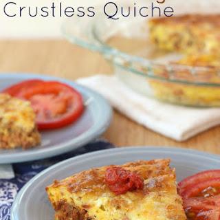 Bacon Cheeseburger Crustless Quiche for #SundaySupper