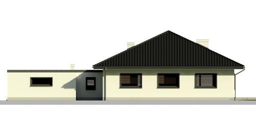 Dom przy Makowej 2 - Elewacja tylna