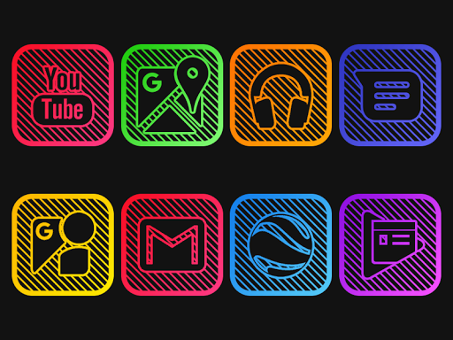 iOS Lines - Neon icon Pack 1.0 screenshots 1