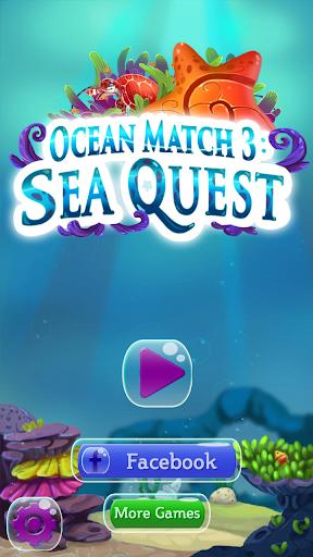 玩免費休閒APP|下載海のマッチ3:海のクエスト app不用錢|硬是要APP