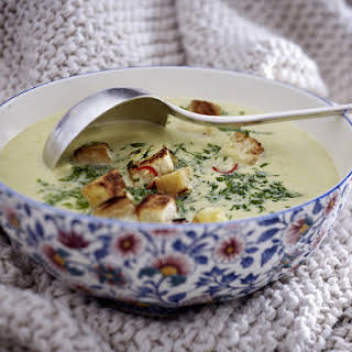 Creamy Cabbage and Parmesan Soup.