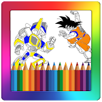 Super Heroes Coloring Game Icon