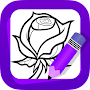 Learn How to Draw Flowers APK icon