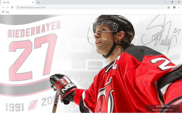 NHL New Jersey Devils New Tab Theme