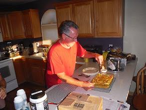 Photo: Jim Hirz preparing us breakfast