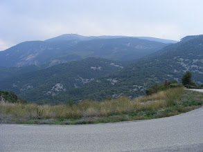 Photo: On the drive home, we get a final glimpse of Mont Ventoux, recognizable by the television tower on top.