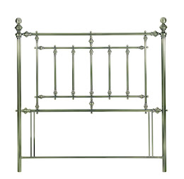 Metal Classic Style Floor Standing headboard in Antique Brass Finish