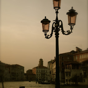 Venice Sunset by Mike Baka - Buildings & Architecture Architectural Detail ( venice, italy )