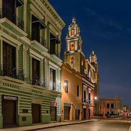 A Feeling of Still Dreaming by Andrius La Rotta Esquivel - City,  Street & Park  Street Scenes ( amazing, city view, city street, city scene, long exposure, photography, street scenes, night photography )