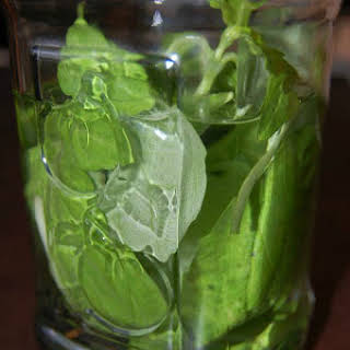 Basil Pepper Infused Vodka.