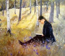 """Photo: Ada Thilen, """"Paesagio con ragazza che legge"""""""