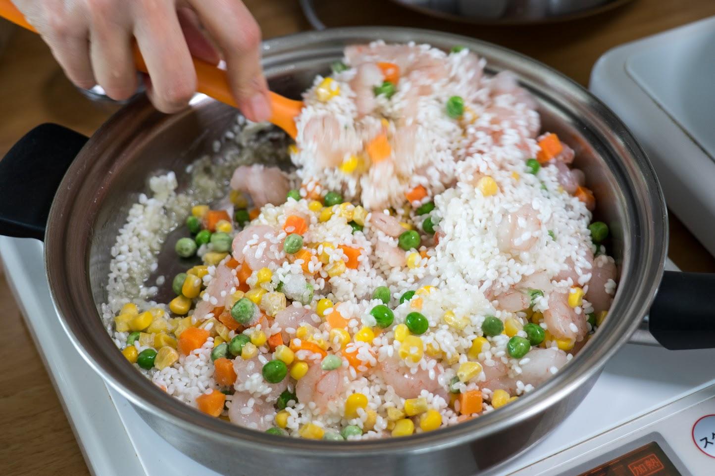黒千石レシピ:エビピラフ