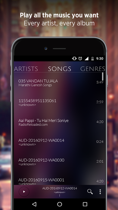 🎧Music Player- screenshot
