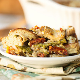 Sundried Tomato, Italian Sausage, and Veggie Strata