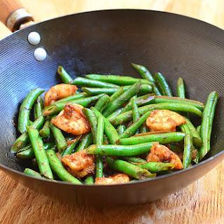Green Bean and Shrimp Stir-fry.