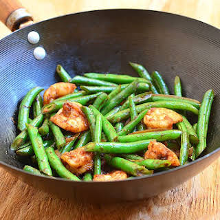 Green Bean and Shrimp Stir-fry.