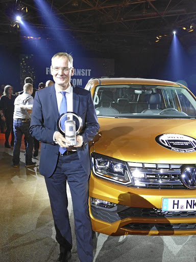 Eckhard Scholz, chairman of the brand board of management of Volkswagen Commercial Vehicles, at the presentation of the International Pick-up Award 2018. Picture: VOLKSWAGEN COMMERCIAL VEHICLES