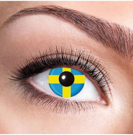 Färglinser, Sverigeflagga 1 år