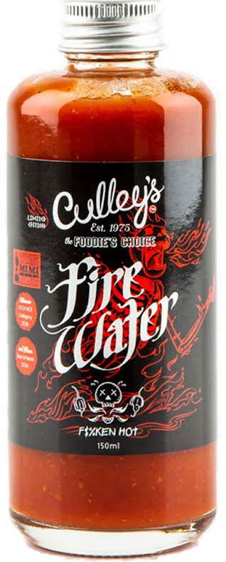 Riktigt het sås - Fire Water - Culley's