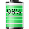 Battery Widget - % Indicateur