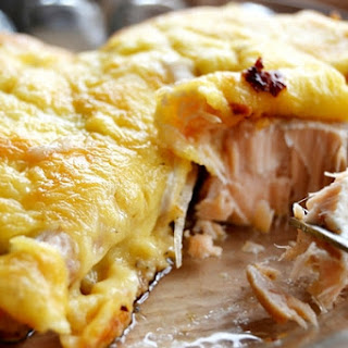 Juicy Fish Baked In Omelette.