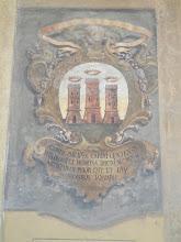Photo: Fresco with several towers, Archiginnasio of Bologna