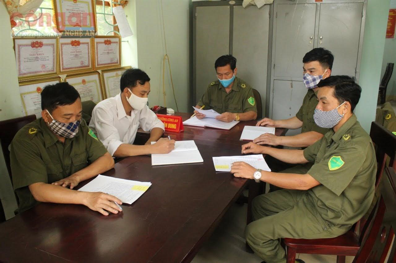 Ban Công an xã Châu Phong họp bàn về công tác bảo đảm                                       tình hình ANTT trên địa bàn