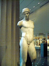 Photo: Statue of a youth. Imperial, 1st cent. A.D. Roman. Marble,  Pentelic.   http://www.metmuseum.org/Collections/search-the-collections/130012958