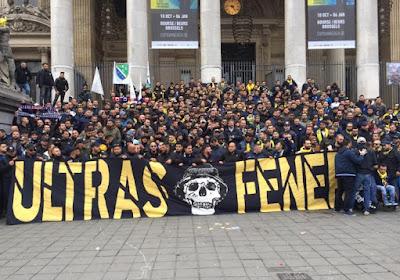? Dat belooft voor vanavond: Fenerbahçe-fans palmen met luidkeelse gezangen Brussel in