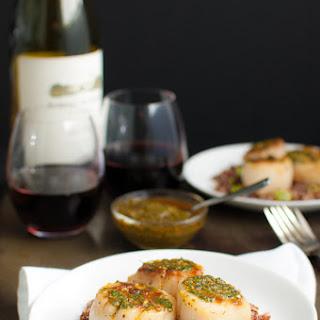 Pan Seared Scallops with Chermoula Sauce