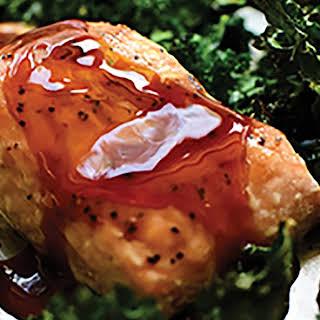 Teriyaki Salmon and Kale Sheet Pan Supper recipe | Epicurious.com.