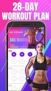Abs workout - fat burning at home Screenshot
