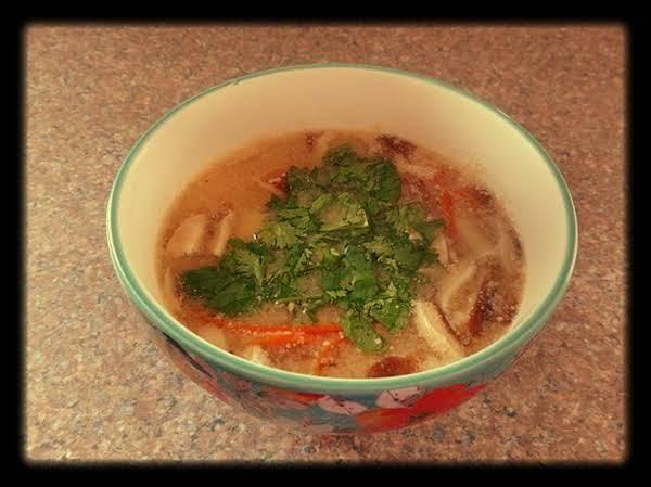 Vegetarian Sour Miso Soup Recipe
