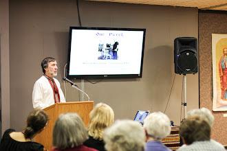 Photo: Michael Buryk, speaker on the artwork and life of Nicholas Bervinchak