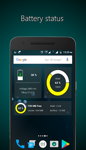 Widgets - CPU | RAM | Battery  screenshots 3
